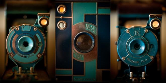 "Collection ""Bleue"" : Kodak Petite Coquette / Beau Brownie / Kodak Petite"